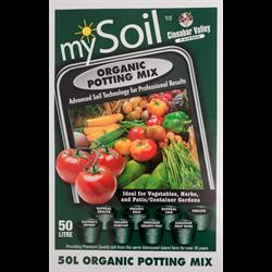 mySoil Organic Potting Mix 50L  55/plt