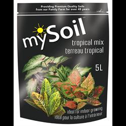 mySoil Tropical Mix 5L - 10/cs - 300/plt