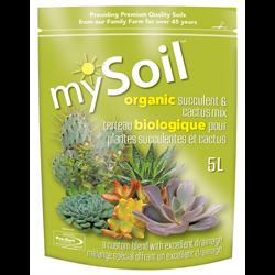 mySoil Organic Succulent & Cactus Mix 5L - 10/cs - 300/plt